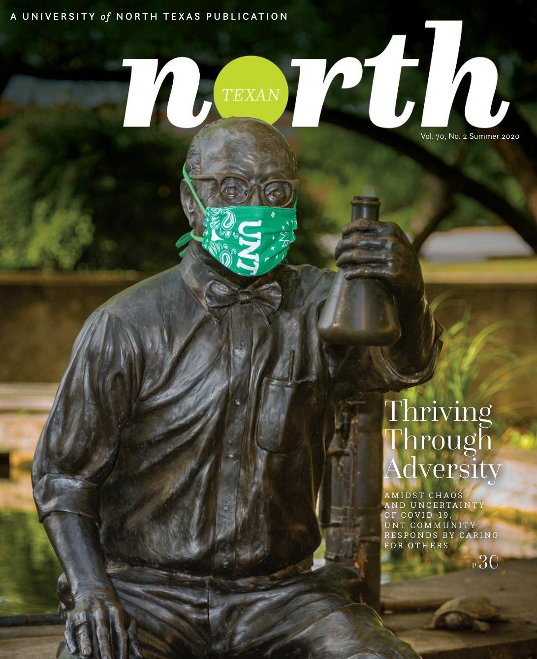 The Summer 2020 issue of the North Texan featured our heroes of COVID-19.