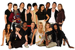 Shirin Askari (standing, fourth from the right) with <em>Project Runway</em> cast.  (Photo courtesy of Lifetime Television)