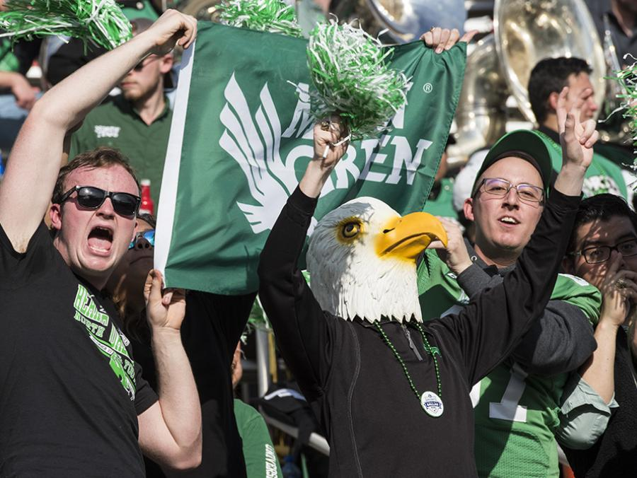 <p>Heart of Dallas Bowl Eagle fans</p>
