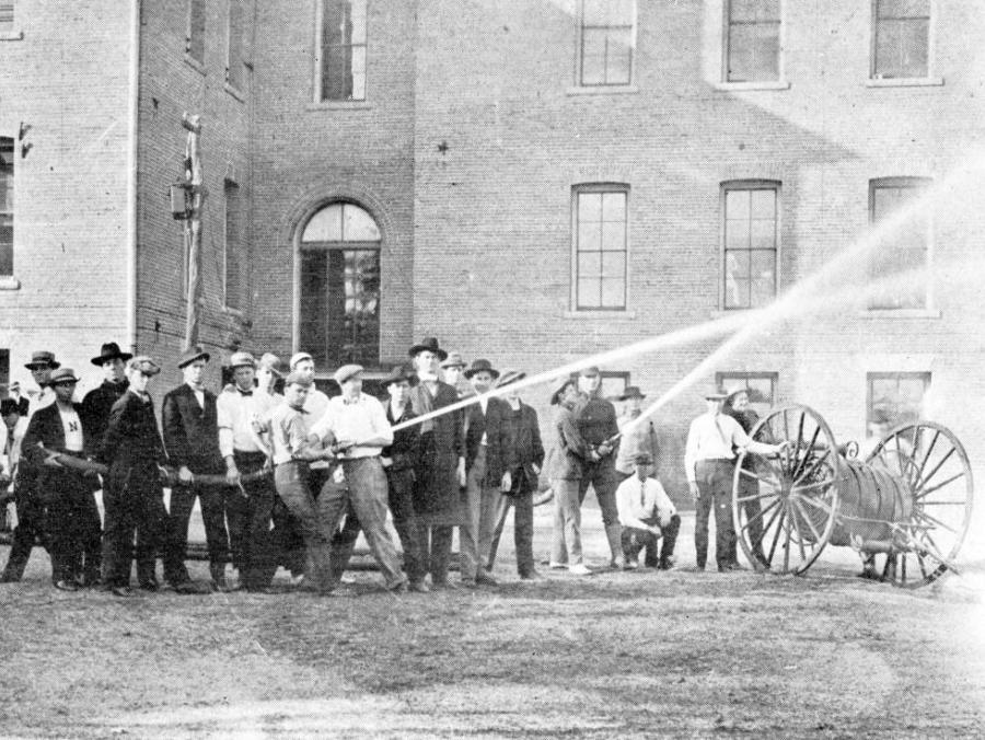 <p>1909 student volunteer fire company</p>