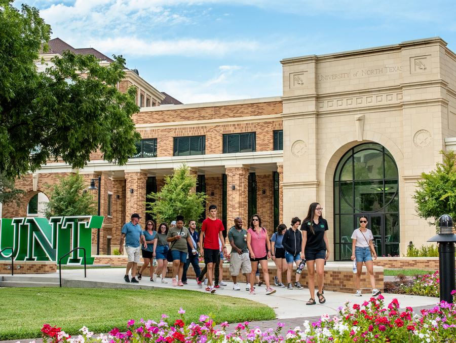 "UNT's Welcome Center, the new ""front door"" to the university"