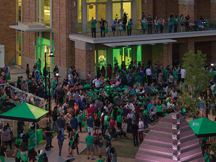 <p>UNT Graduation Block Party (Photo by Gary Barber)</p>
