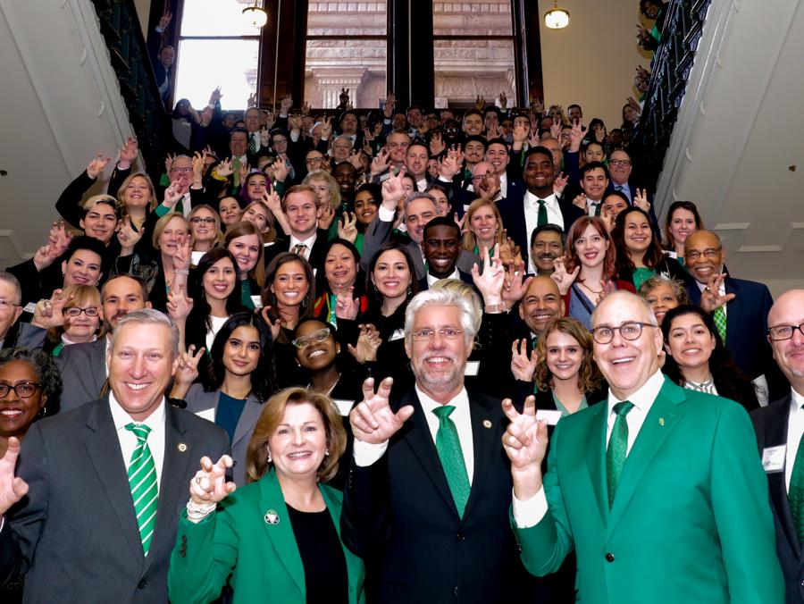 UNT faculty, staff and students in Austin