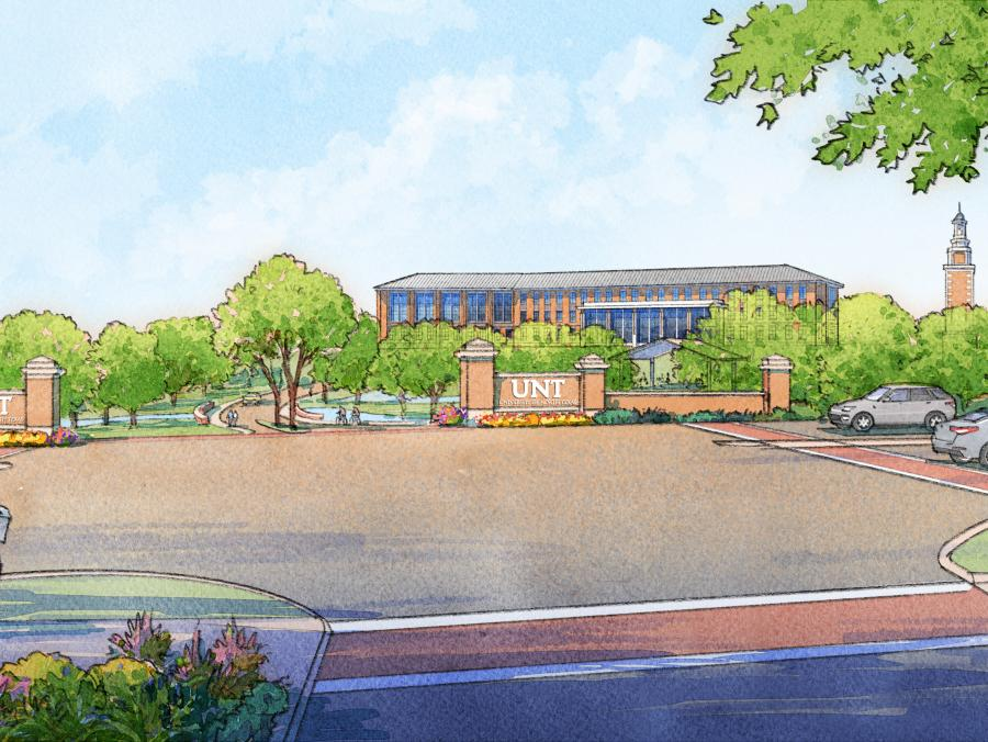 Rendering of new campus.