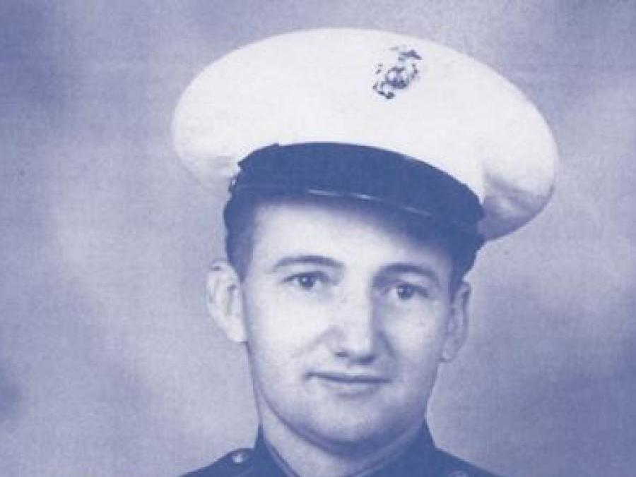 Photo of George Burlage in his Navy uniform
