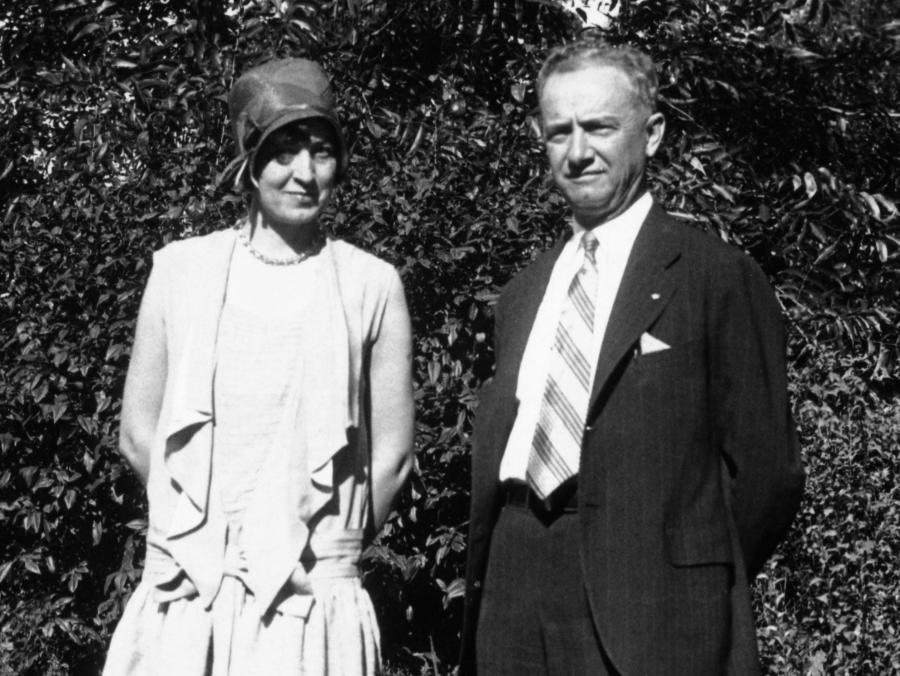 <p>Robert L. Marquis Sr. and wife standing</p>