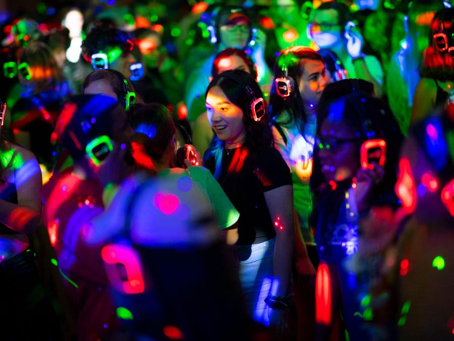 A silent disco at Eagle Insomnia