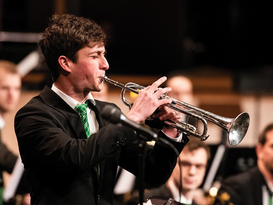 Austin Ford playing trumpet