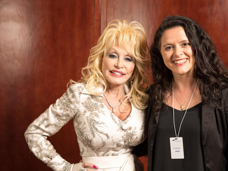 Lindsey Miller with Dolly Parton