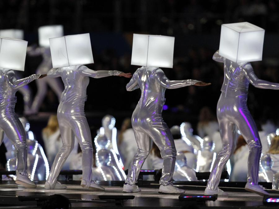 <p>UNT Dancers at Super Bowl</p>