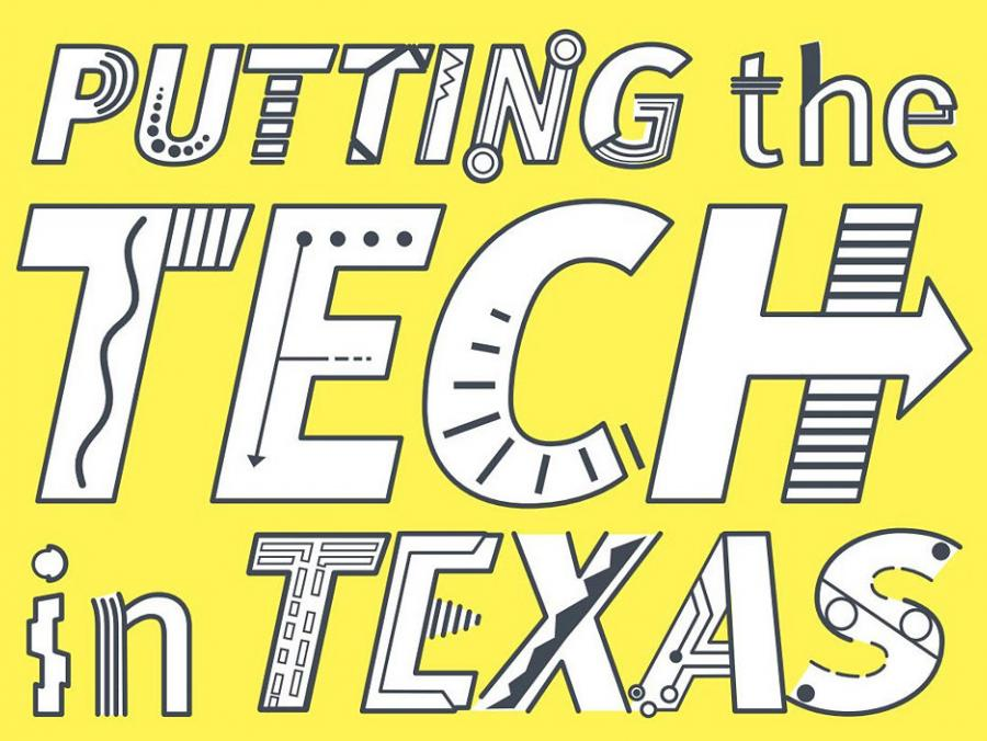 Cover art text for Putting the Tech in Texas story