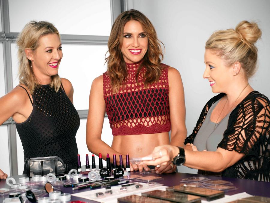 <p>Wende Zomnir with her team at the Urban Decay headquarters</p>