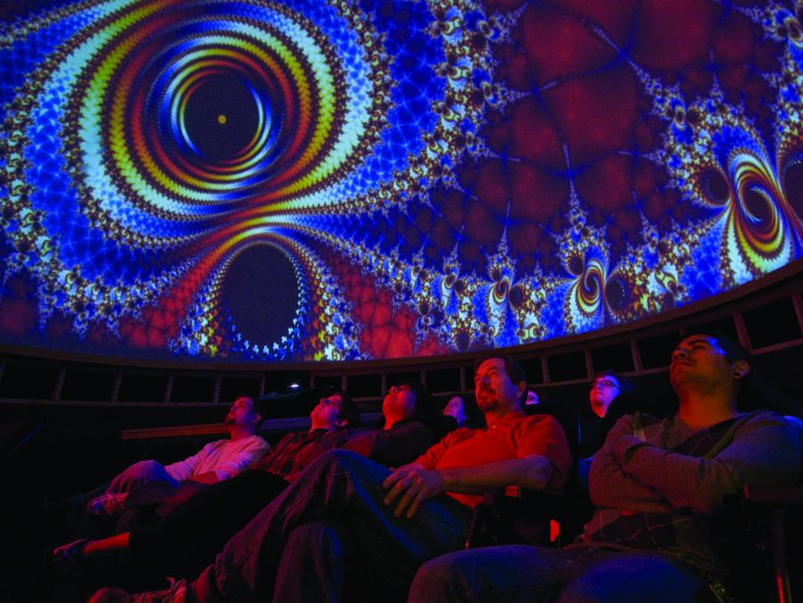 Planetarium audience watching Pink Floyd Show