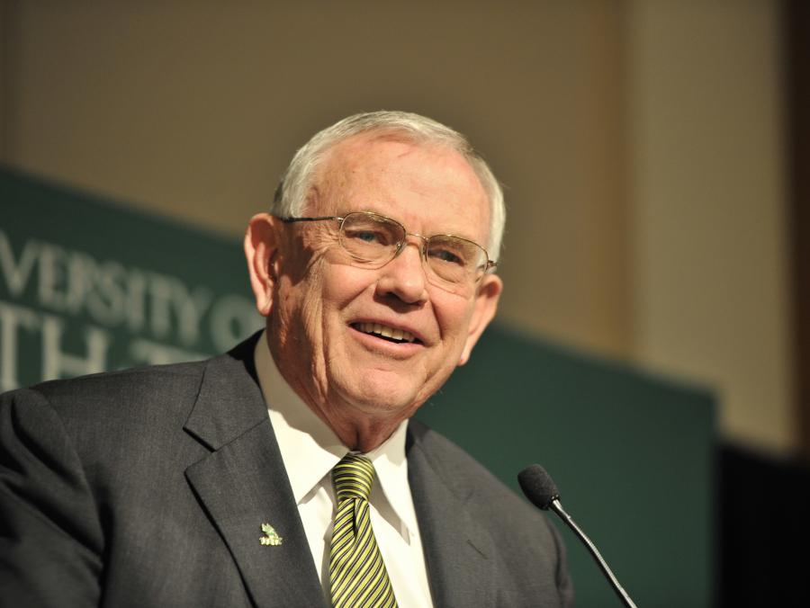 <p>President Lane Rawlins speaking</p>