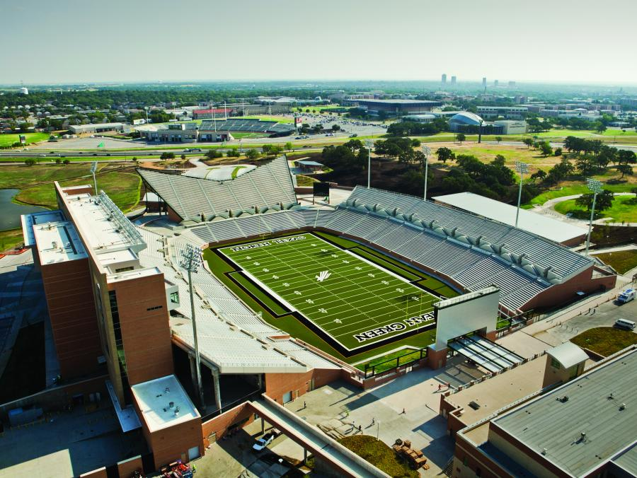 <p>Mean Green stadium</p>