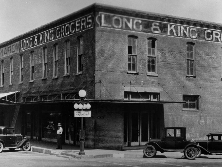 Denton Square building for UNT classes in 1890, photographed in 1930s