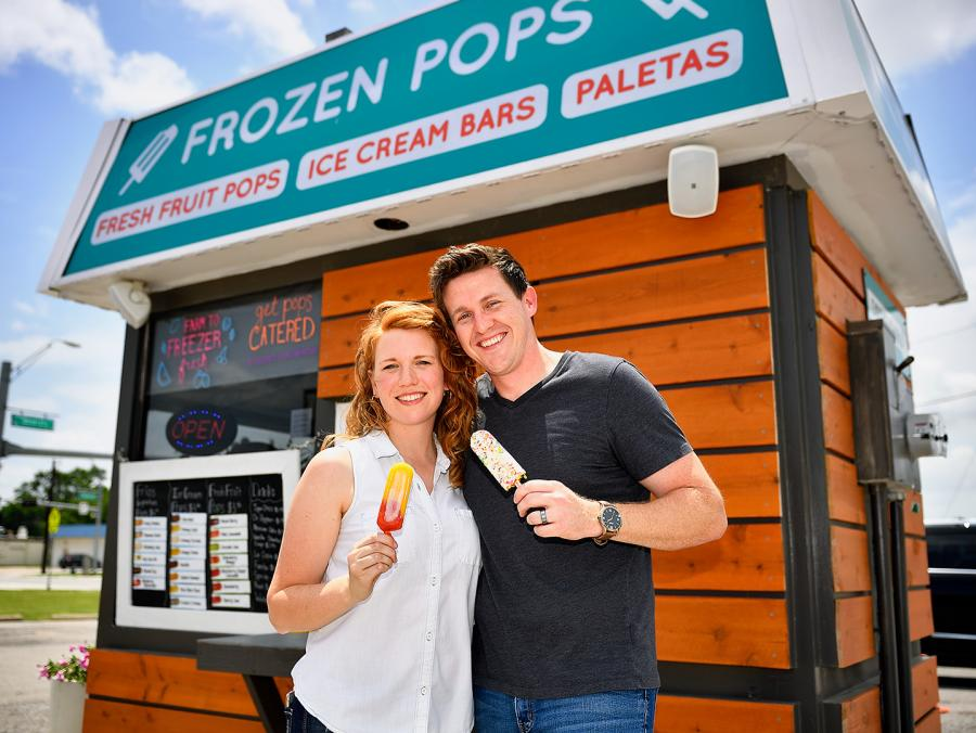 Robert and Lauren Penn at Frios Gourmet Pops