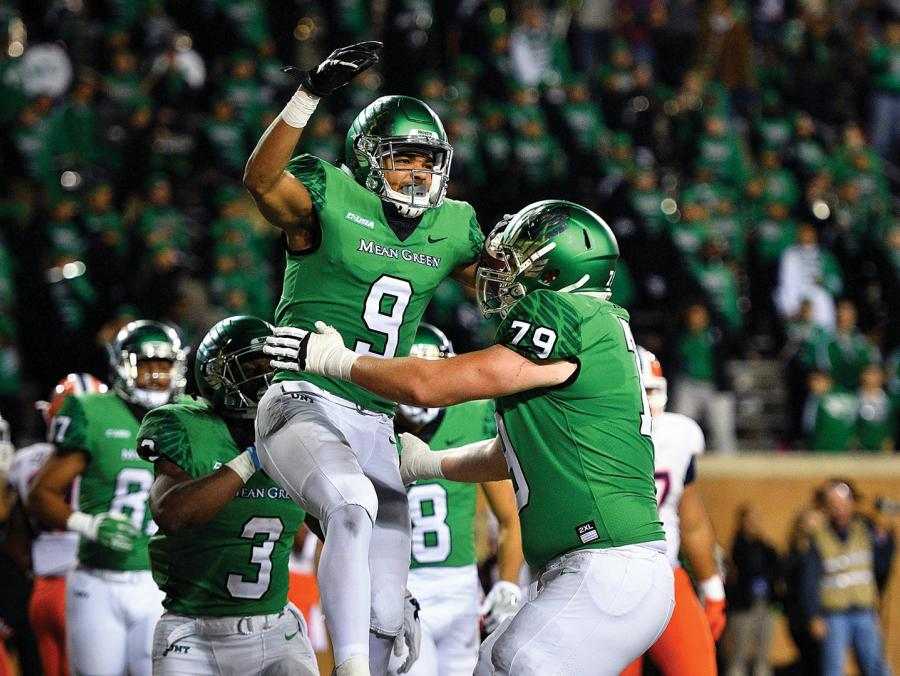 <p>UNT Football vs UTEP photographed at Apogee Stadium</p>