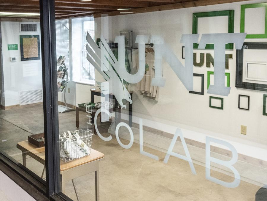 UNT's CoLab space is pictured on the Denton Square