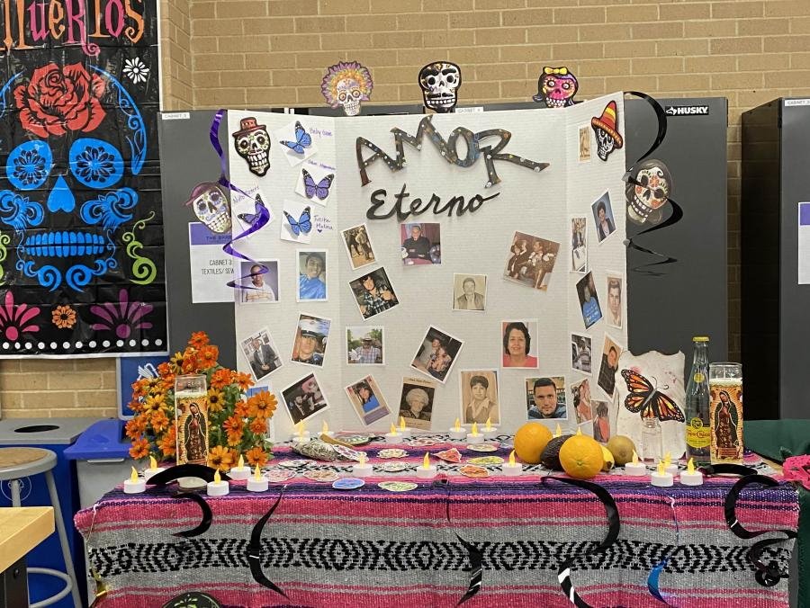 Citlali Molina's altar is pictured