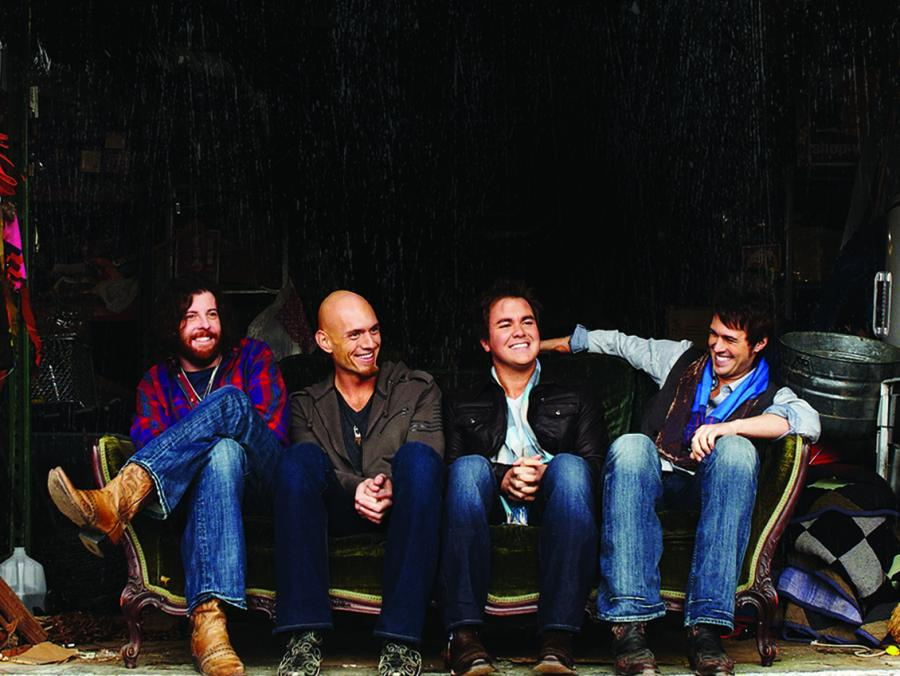 <p>Eli Young Band sitting</p>