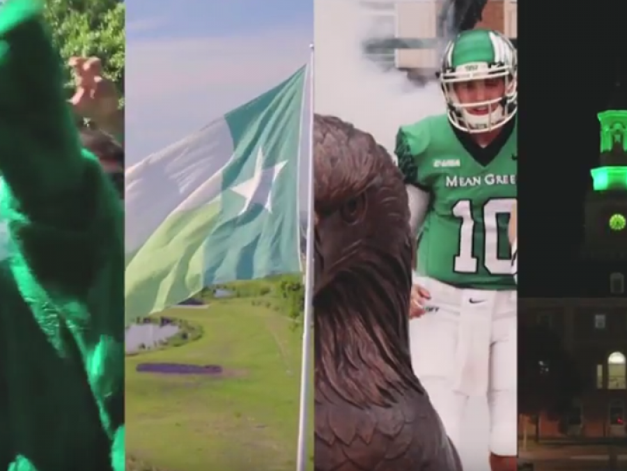 collage of UNT traditions