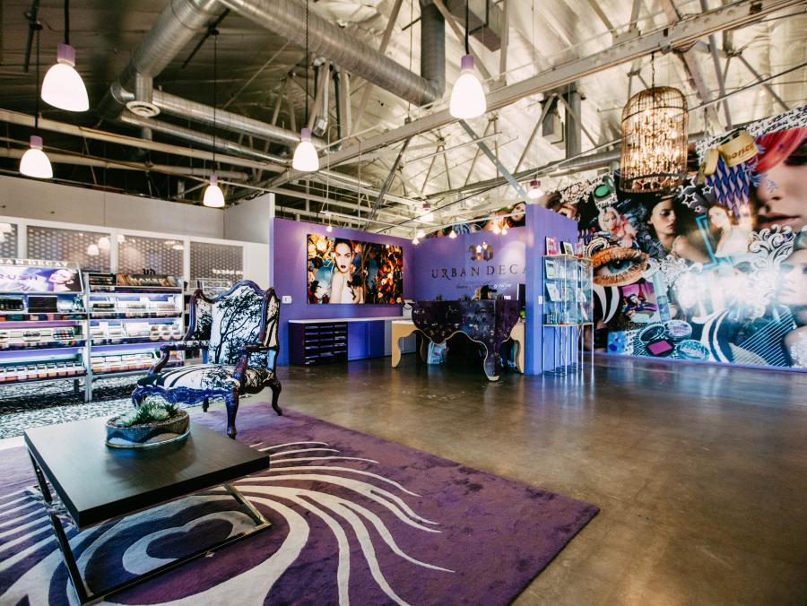 Urban Decay's workspace