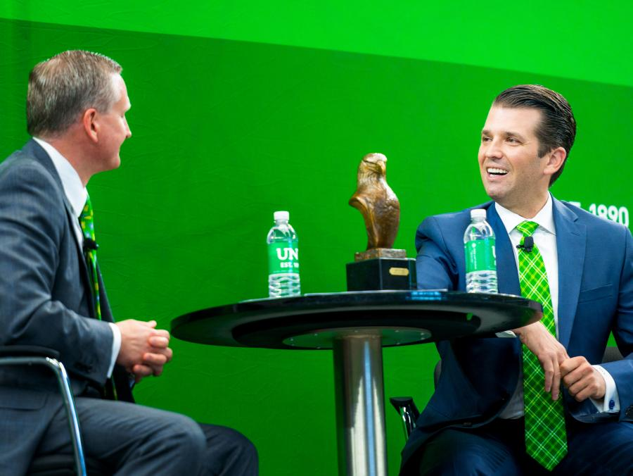 G. Brint Ryan and Donald Trump Jr.