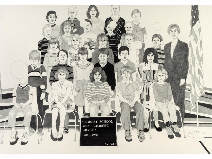 <p>Illustration of third grade class picture</p>