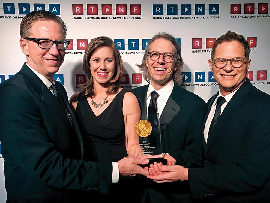 <p>Rick Holter, Courtney Collins, Jeff Whittington and Thorne Anderson (Courtesy of Thorne Anderson)</p>
