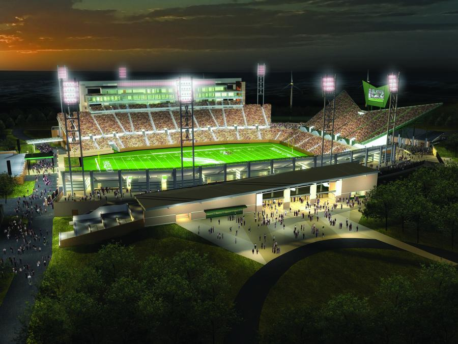 Rendering of UNT Stadium