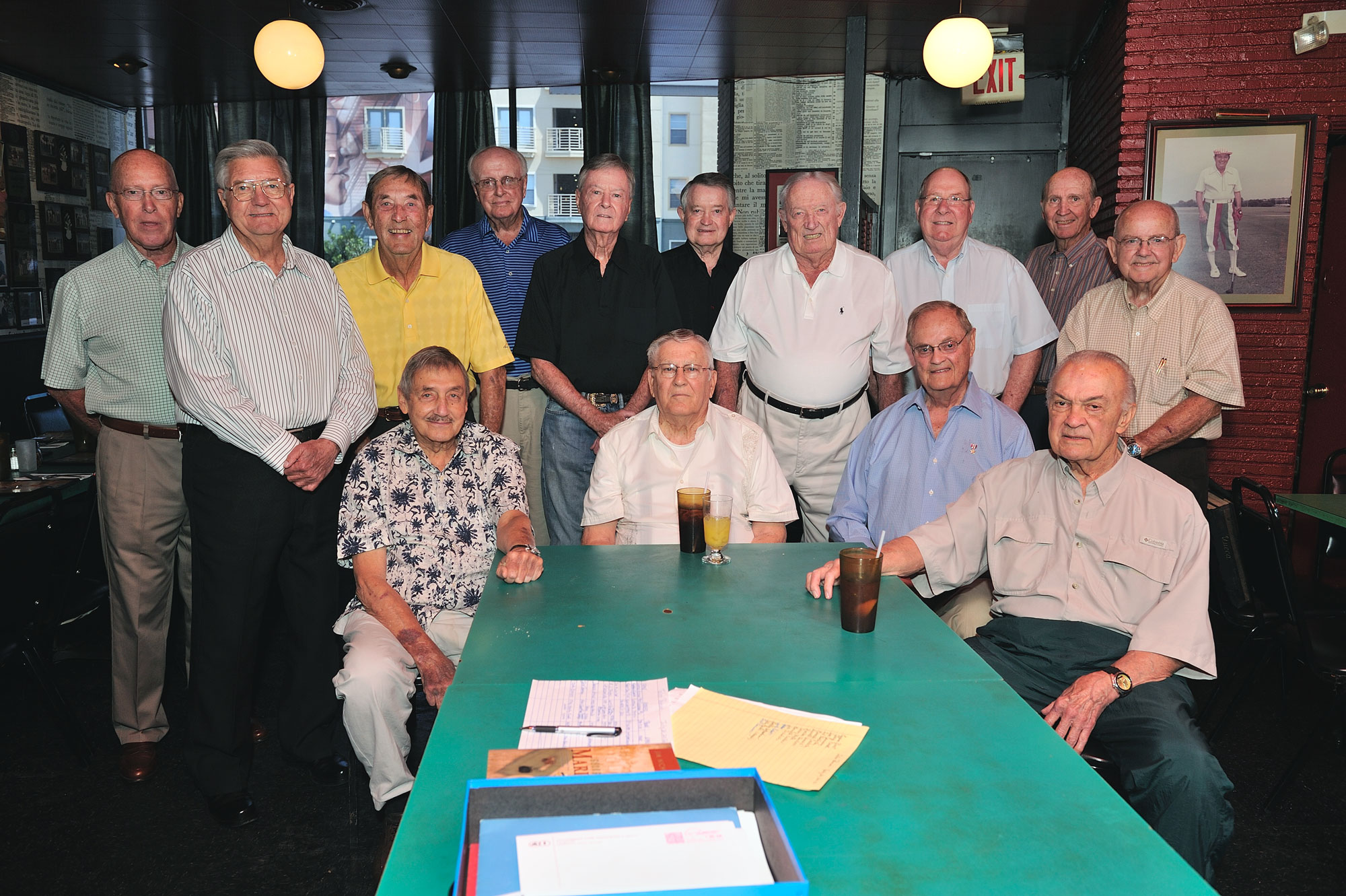 Talons from the 1940s and '50s got together in July to share stories at Campisi's Egyptian Lounge in Dallas.