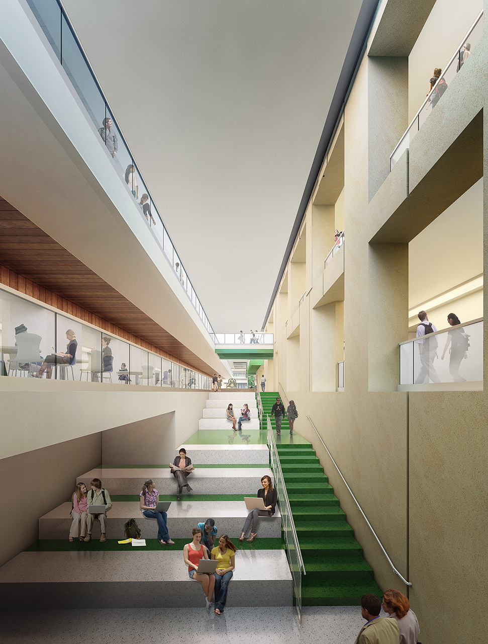 Interior rendering of the new union.